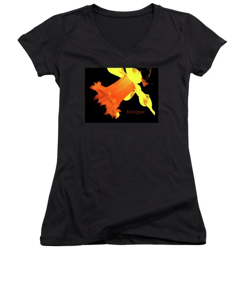 Daffodil Drama Women's V-Neck T-Shirt