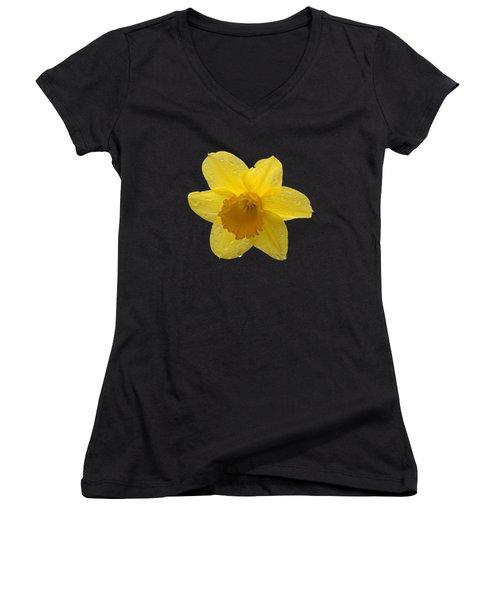 Daffodil Women's V-Neck T-Shirt (Junior Cut) by  Newwwman
