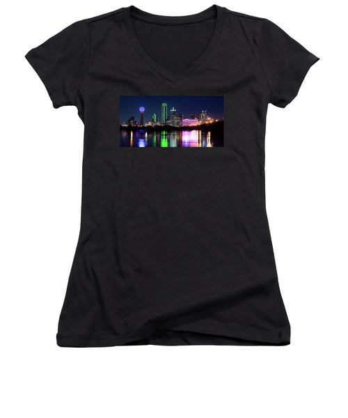 Dallas Colorful Night 52716 Women's V-Neck