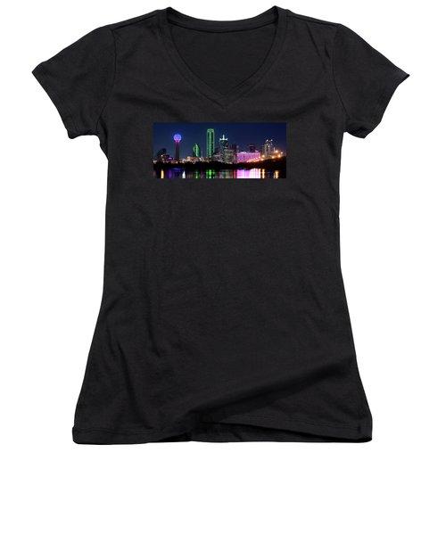 Dallas Colors Pano 2015 Women's V-Neck