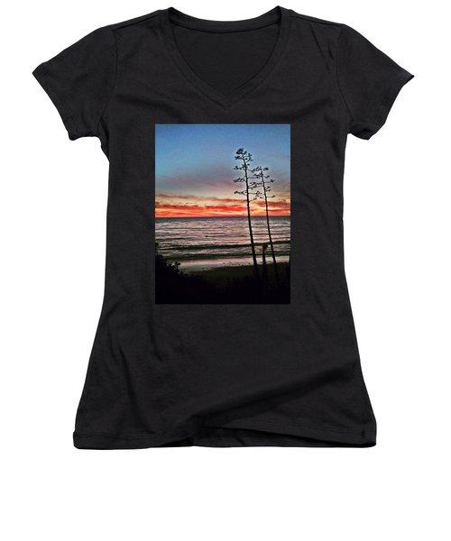 Dana Point Sunset Women's V-Neck T-Shirt