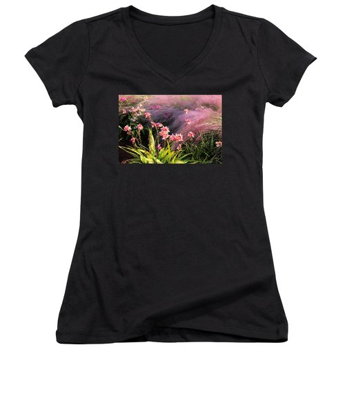 Dance Of The Orchids Women's V-Neck T-Shirt