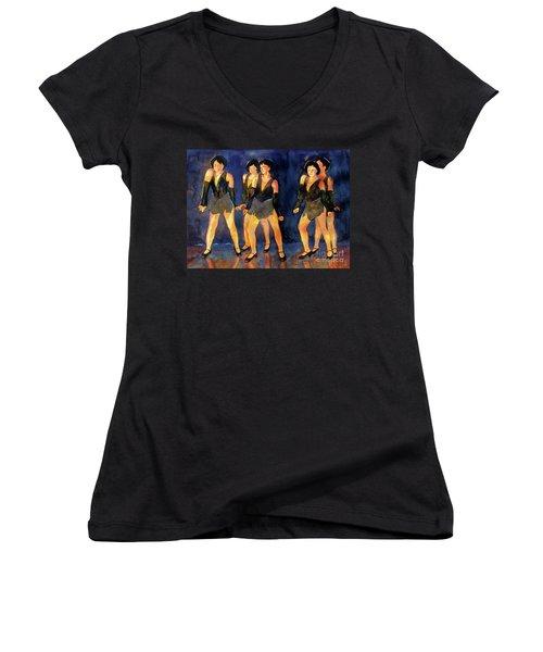 Dancers  Spring Glitz     Women's V-Neck T-Shirt