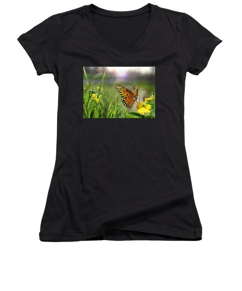 Dancing In The Light Women's V-Neck (Athletic Fit)