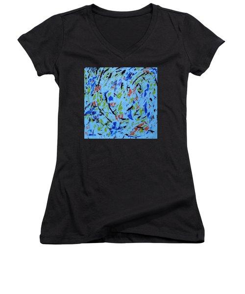 Dancing Light Women's V-Neck T-Shirt