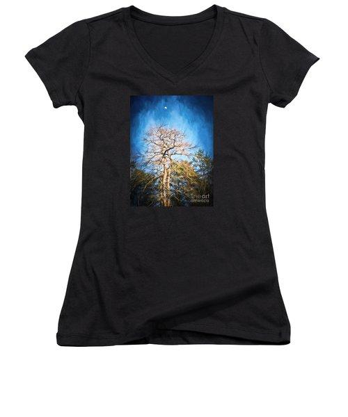 Dancing Under The Moon Women's V-Neck T-Shirt