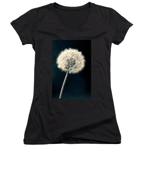 Dandelion Women's V-Neck T-Shirt (Junior Cut) by Ulrich Schade