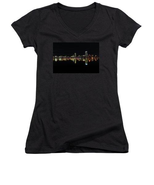 Dark As Night Women's V-Neck T-Shirt (Junior Cut) by Juergen Roth