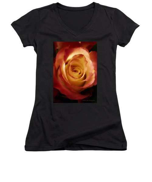 Dark Rose Women's V-Neck