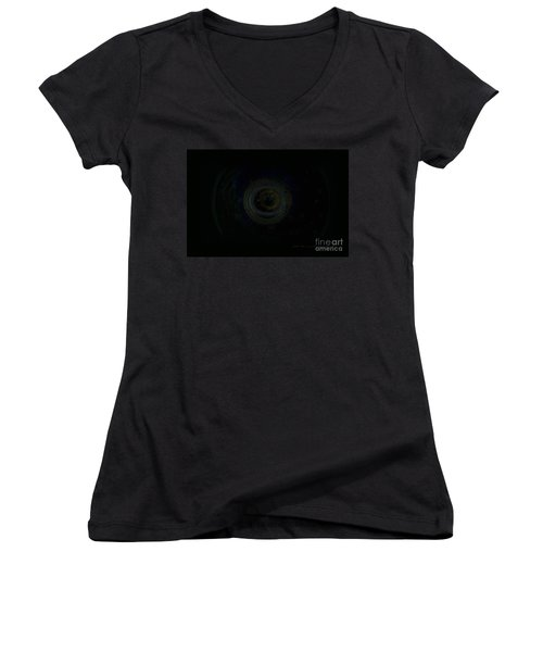 Women's V-Neck T-Shirt (Junior Cut) featuring the digital art Dark Spaces by Vicki Ferrari