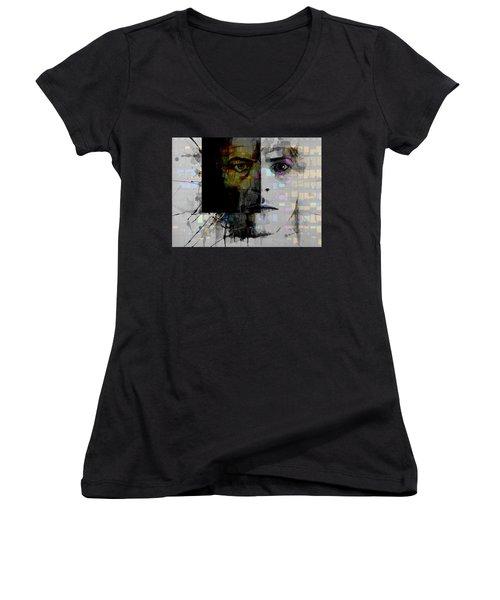 Dark Star Women's V-Neck T-Shirt (Junior Cut) by Paul Lovering