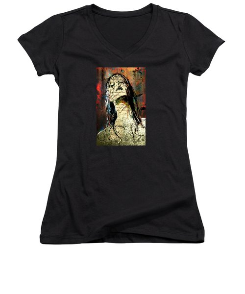 Daunted Damsel Women's V-Neck (Athletic Fit)