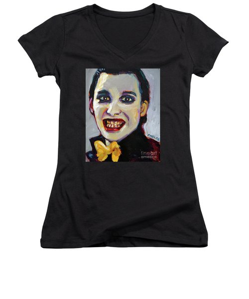 Dave Vanian Of The Damned Women's V-Neck (Athletic Fit)