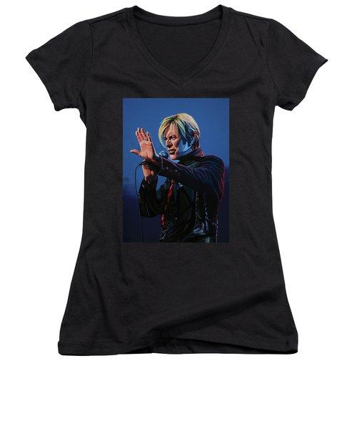 David Bowie Live Painting Women's V-Neck