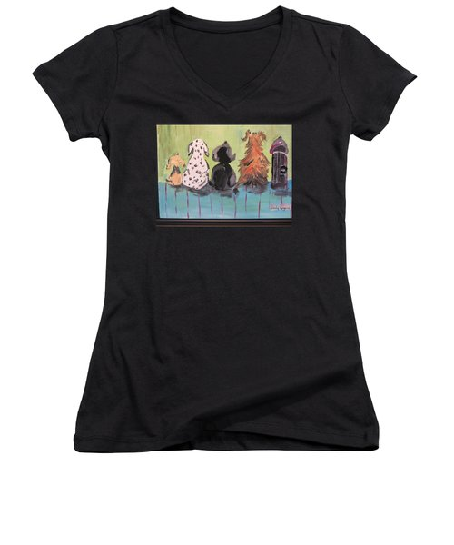 Dawg Outhouse Women's V-Neck (Athletic Fit)