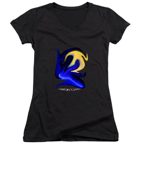 Dawn  Transparency Women's V-Neck (Athletic Fit)