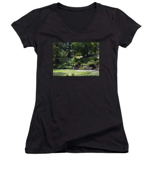 Day At The Park Women's V-Neck (Athletic Fit)