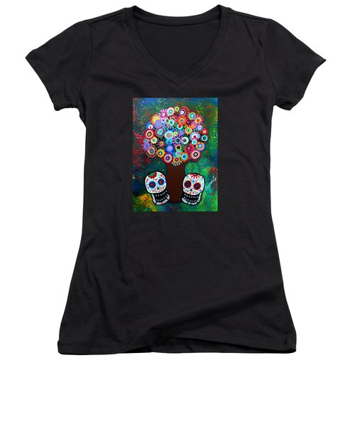 Day Of The Dead Love Offering Women's V-Neck