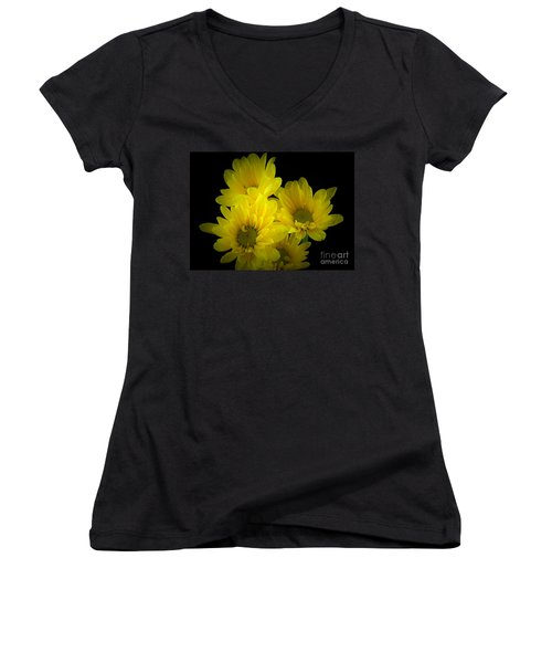 Dazzling Yellow Women's V-Neck (Athletic Fit)
