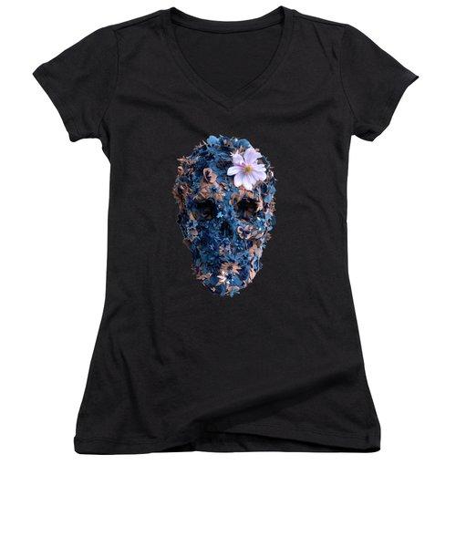Skull 9 T-shirt Women's V-Neck (Athletic Fit)