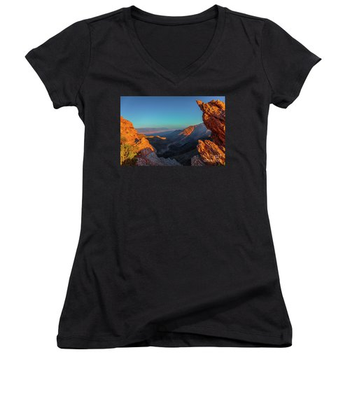 Death Valley 1 Women's V-Neck (Athletic Fit)