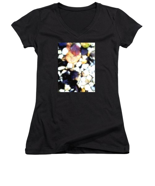 Decaying Leaves Women's V-Neck T-Shirt (Junior Cut) by Mimulux patricia no No