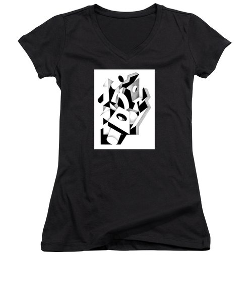 Decline And Fall 8 Women's V-Neck T-Shirt