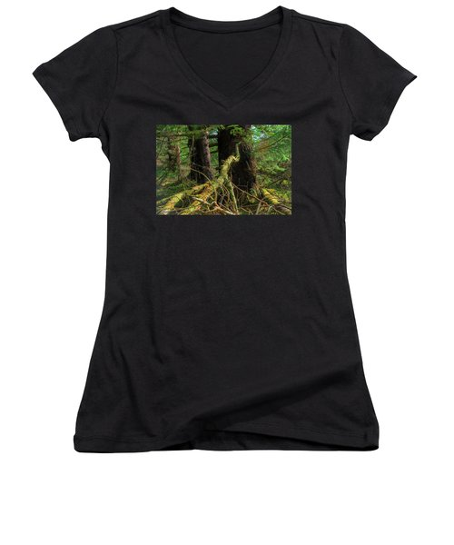 Deep In The Woods Women's V-Neck (Athletic Fit)