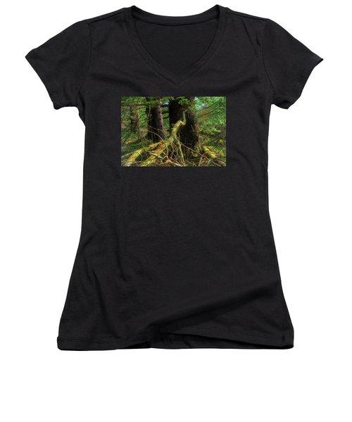 Deep In The Woods Women's V-Neck T-Shirt