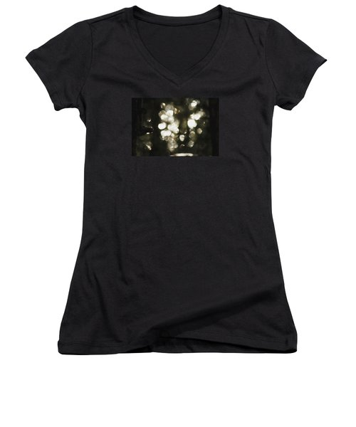 Women's V-Neck T-Shirt featuring the photograph Deep In Woods by Yulia Kazansky