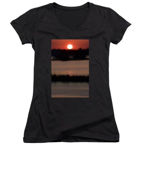Deep Louisiana Women's V-Neck T-Shirt (Junior Cut) by John Glass