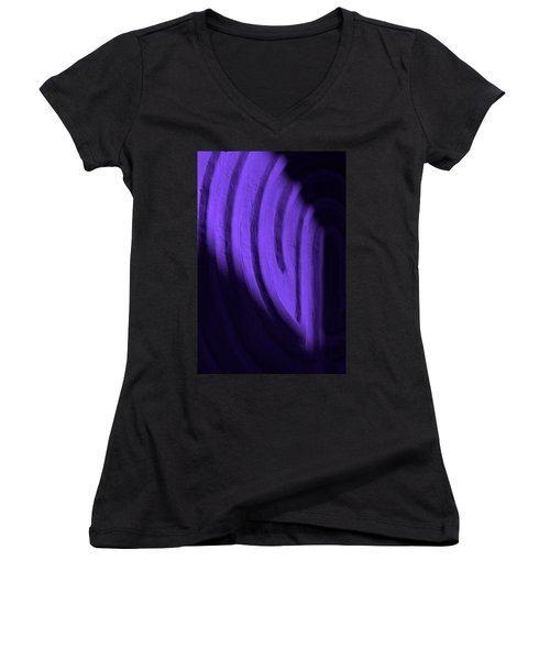 Deep Maze Women's V-Neck T-Shirt (Junior Cut) by Josephine Buschman
