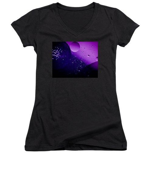Deep Space Women's V-Neck T-Shirt (Junior Cut) by Bruce Pritchett