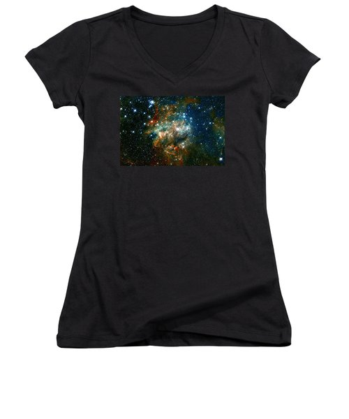 Deep Space Star Cluster Women's V-Neck T-Shirt