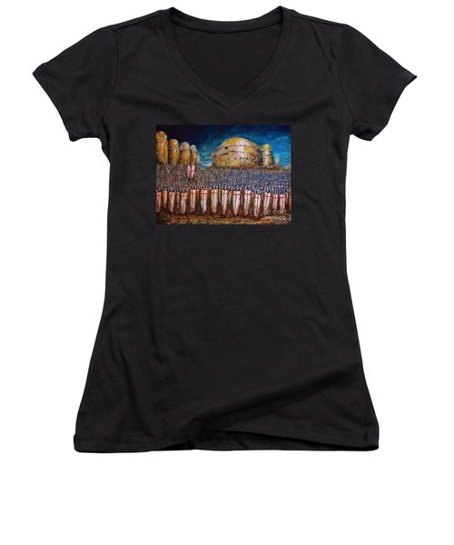 Defence Of Jerusalem Women's V-Neck T-Shirt