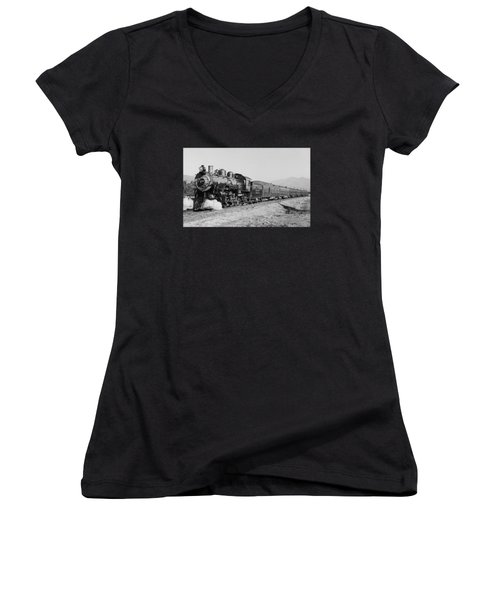Deluxe Overland Limited Passenger Train Women's V-Neck (Athletic Fit)
