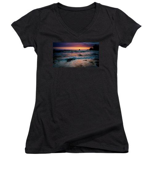 Demartin Beach Sunset Women's V-Neck