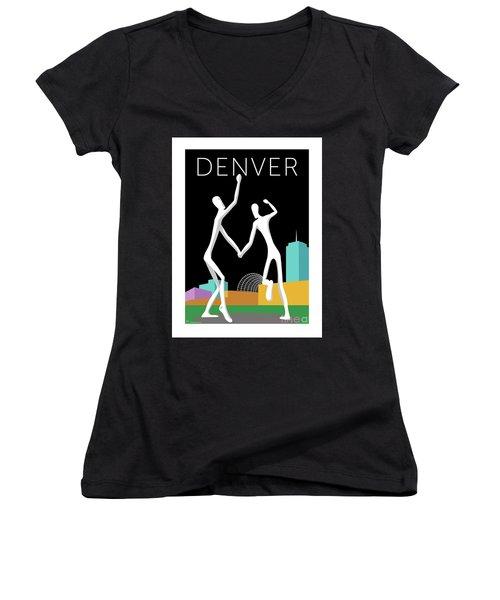 Denver Dancers/black Women's V-Neck