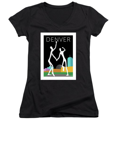 Denver Dancers/black Women's V-Neck (Athletic Fit)