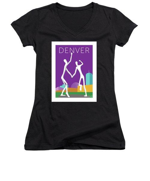 Denver Dancers/purple Women's V-Neck