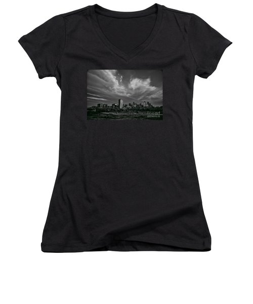 Denver Skyline Women's V-Neck (Athletic Fit)