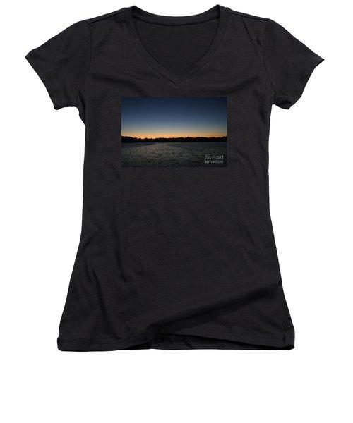 Descending  Women's V-Neck T-Shirt (Junior Cut) by Jamie Lynn