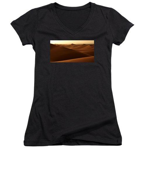 Desert Impression Women's V-Neck T-Shirt (Junior Cut) by Ralph A  Ledergerber-Photography