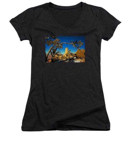 Desert View Watchtower, Grand Canyon National Park, Arizona Women's V-Neck