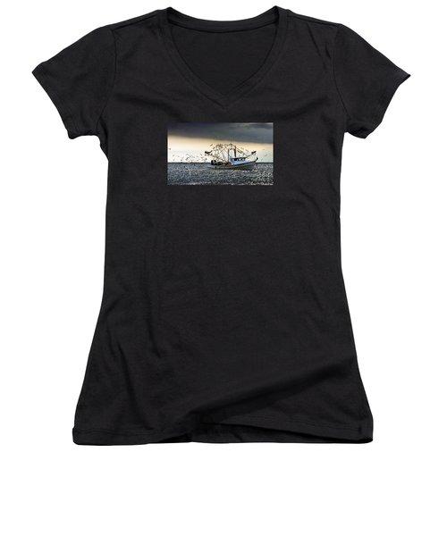 Desperado  Women's V-Neck T-Shirt (Junior Cut) by Christy Ricafrente