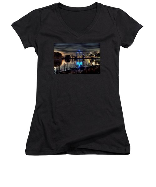 Detroit Reflections Women's V-Neck (Athletic Fit)