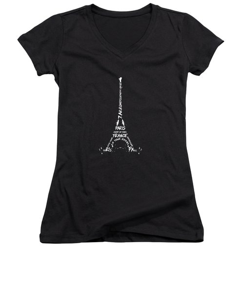 Digital-art Eiffel Tower - Panoramic Women's V-Neck (Athletic Fit)