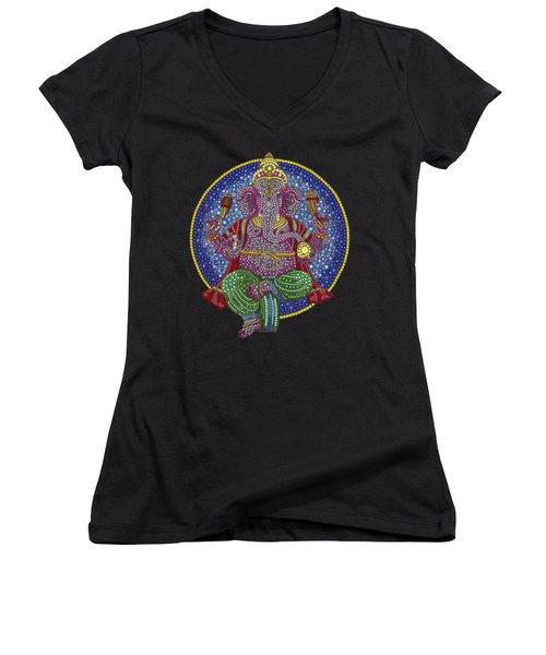 Digital Ganesha Women's V-Neck