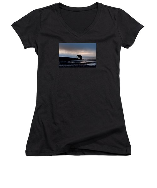 Disappointment Women's V-Neck T-Shirt (Junior Cut) by Sandra Bronstein