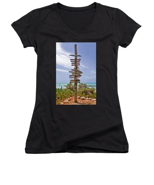 Distance From Key West Women's V-Neck